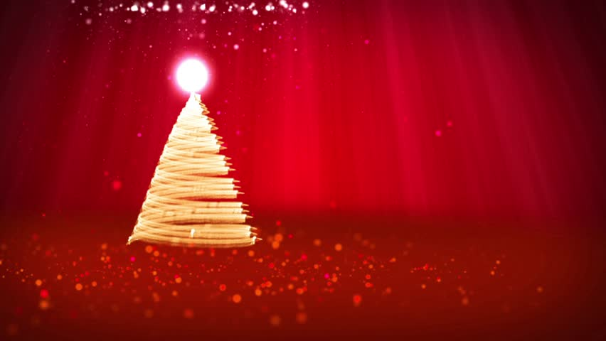 red christmas tree from glow shiny particles on the left side winter theme for xmas - Red Christmas Tree Lights