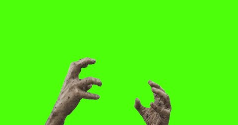 "Hands and arms of an undead who has just came back to ""life"". The creature is raising the hands respectively arms. The limbs are covered with wet soil. The revived is trembling and acting clumsy."