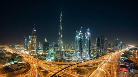 DUBAI Timelapse Skyline