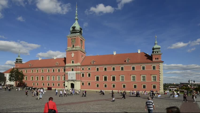 WARSAW, POLAND - OCTOBER 09: Warsaw's Old Town and Royal Castle is placed on the UNESCO's list of World Heritage Sites. Now is a main historic attraction for tourists, October 09, 2012, Warsaw, Poland