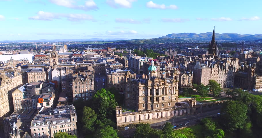 Aerial Edinburgh Scotland UK | Shutterstock HD Video #32379559