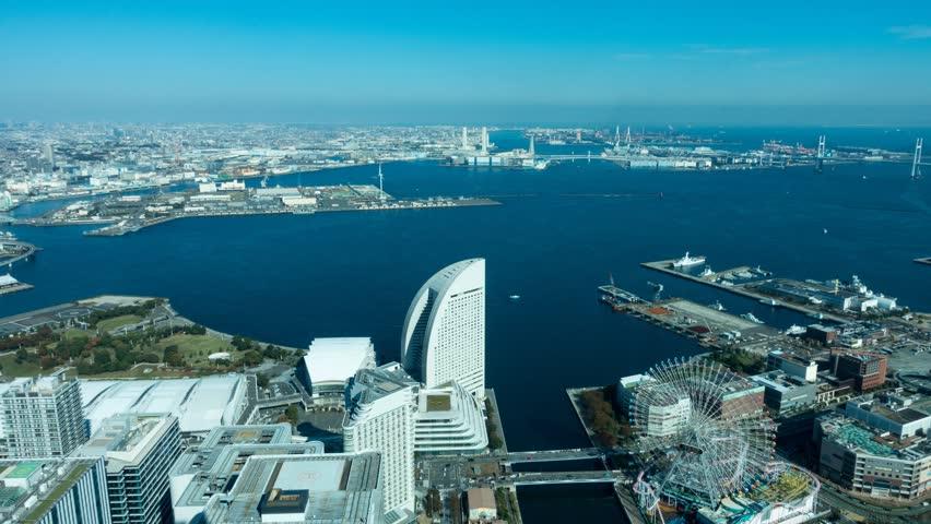 Time lapse video of Yokohama Minato Mirai bay area at daytime | Shutterstock HD Video #32442559