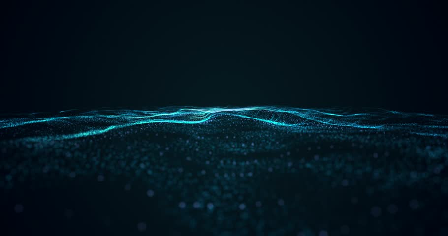 Abstract background of blue particle waves. Seamless looping animated background. | Shutterstock HD Video #32533249