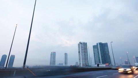 Timelapse video, traffic in Bangkok, Thailand