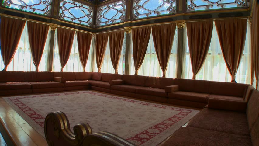 CENTRAL TURKEY, 2012 The interior of a luxurious meeting room or sitting hall of the Ottoman Empire.