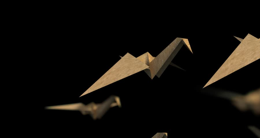 Origami Crane Mid Shoot Flapping Stock Footage Video 100 Royalty