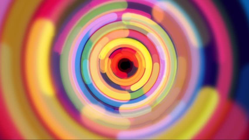 Zoom in rainbow color half circle design   Shutterstock HD Video #3257011