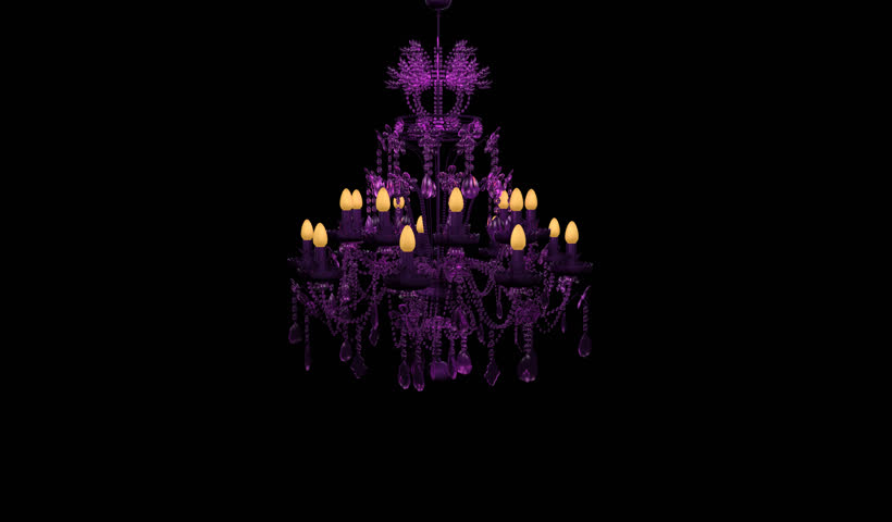 Purple chandelier stock footage video 3257359 shutterstock mozeypictures Images