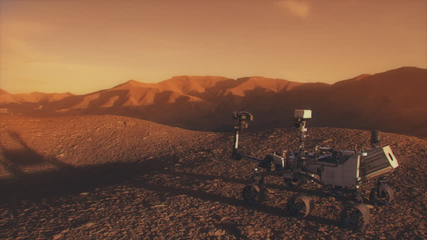Highly realistic animation of the NASA Mars Discovery Rover. 4K UHD. 16-bit color depth. Broadcast quality.