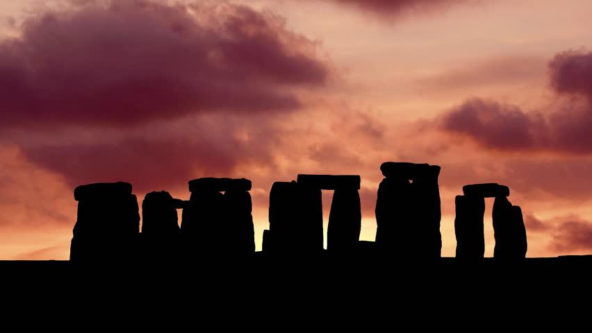 Dramatic Sunset at Stonehenge