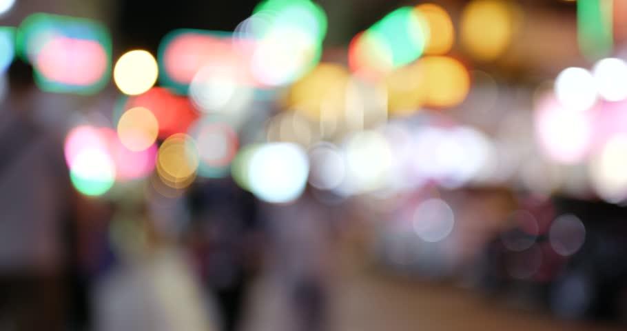 Blur city in street at night   Shutterstock HD Video #32643229