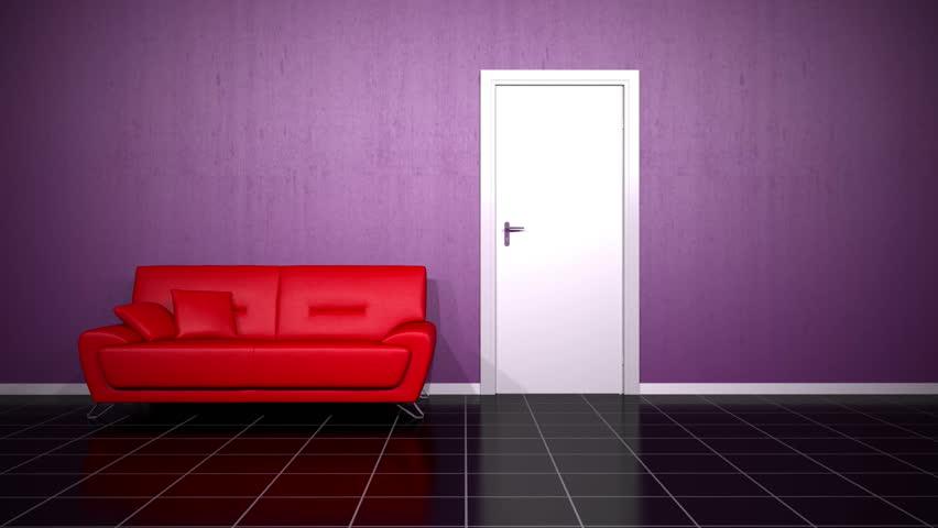 Door that opens into the room