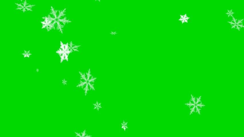 Falling Snowflakes - Loop - Green Screen | Shutterstock HD Video #32701519