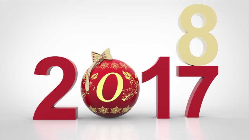 Videos. 3D illustration. New Year 2018 Christmas decoration