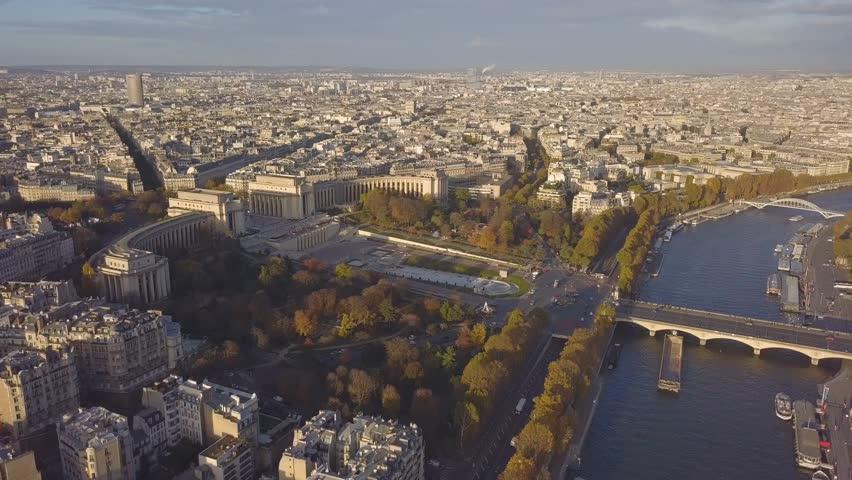 Cityscape of Paris. Aerial view of Trocadero square | Shutterstock HD Video #32800954