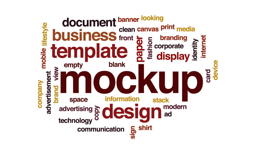 Mockup animated word cloud, text design animation.   Shutterstock HD Video #32834482