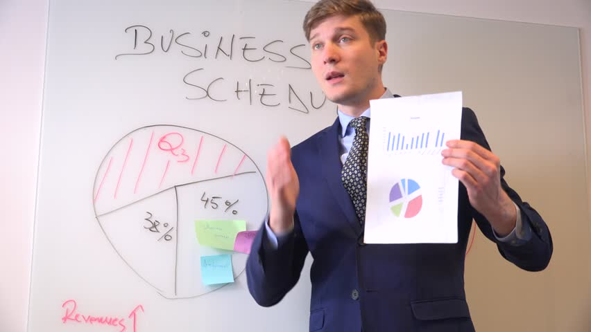 Business meeting boardroom young entrepreneur corporate worker white board chart | Shutterstock HD Video #32836792