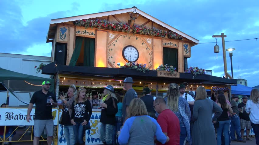 Big Black Forest Clock at Tulsa Octoberfest - TULSA / OKLAHOMA - OCTOBER 21, 2017