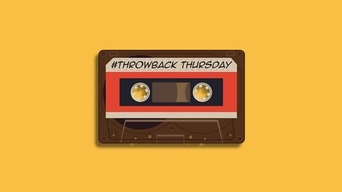 Audio cassette tape playing animation - Throwback Thursday