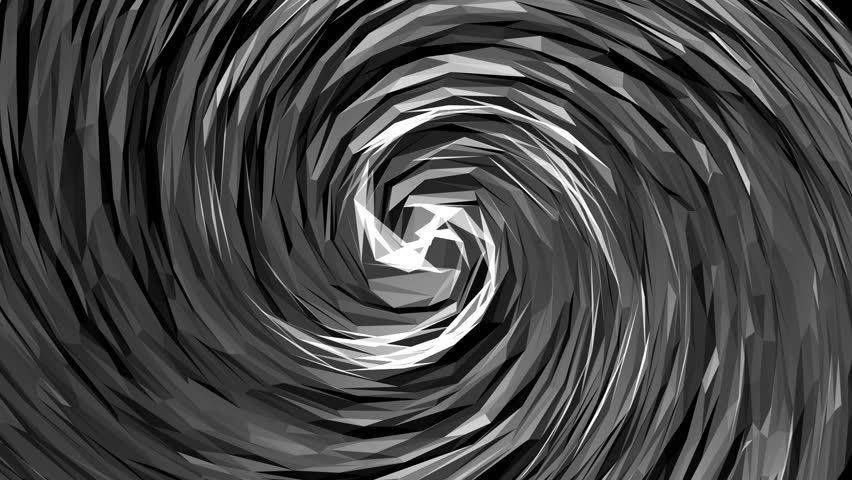 Low poli black spiral moves slowly. | Shutterstock HD Video #32926387