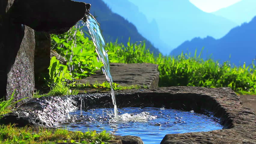 Pure Water from Spring Stock Footage Video 100 Royalty