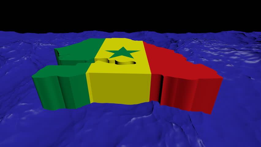 Uganda Map Flag In Abstract Ocean Animation Stock Footage Video - Uganda map hd
