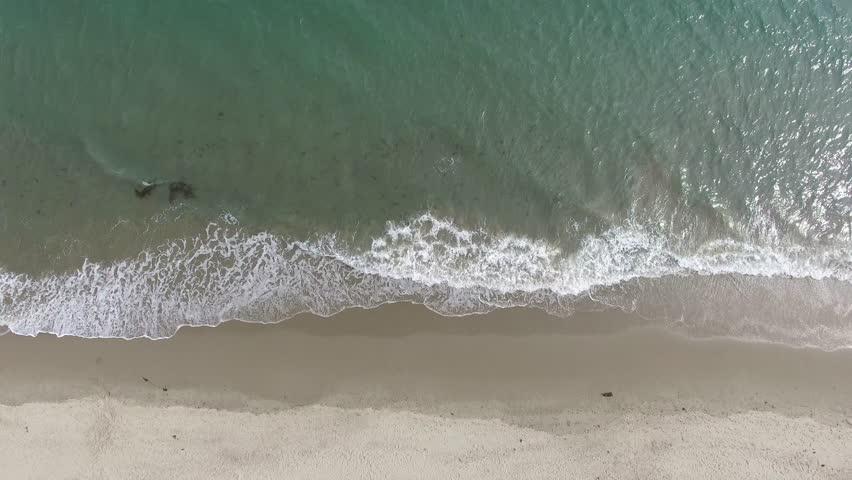 Aerial view of beach in Santa Barbara California daytime | Shutterstock HD Video #32954959