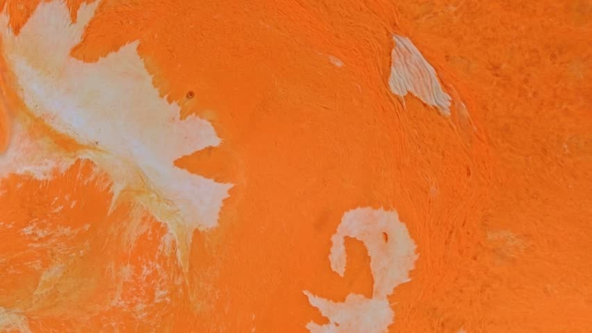 Orange And White Creamsicle Skin Vibrant Bright Paint Oil Color Swirls Entropy