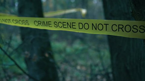 Yellow Crime Scene Tape in Stock Footage Video (100% Royalty