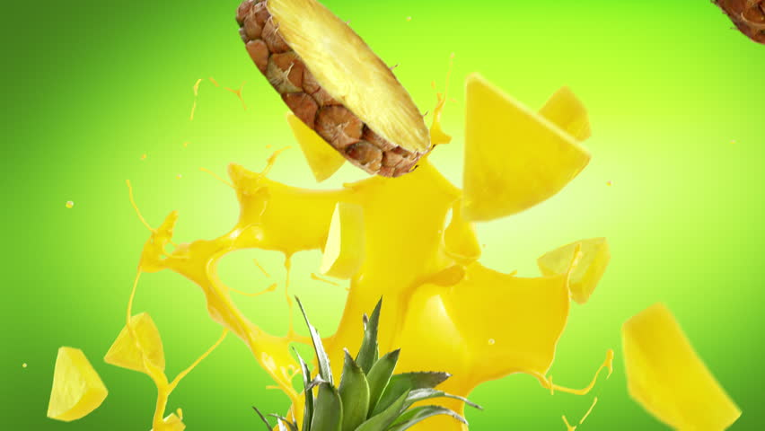 Pineapple Fresh on green Background