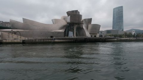 Bilbao, Spain - July 25, 2017: Guggenheim Museum by the architect Frank Gehry