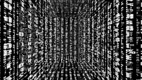 HD - Motion 664: Traveling through a labyrinth of digital data (Loop).