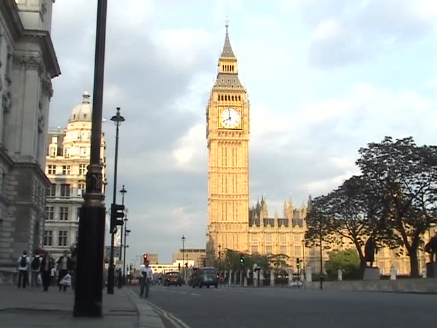 Time Lapse of Big Ben, at the Houses of Parliament, London, England.