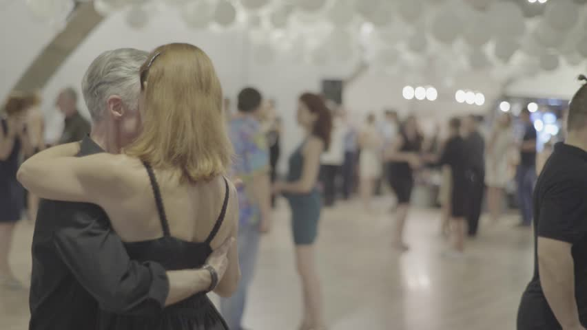 KYIV, UKRAINE - SEPTEMBER 22, 2017. Romance. Dancers are dancing tango (milonga) | Shutterstock HD Video #33011296