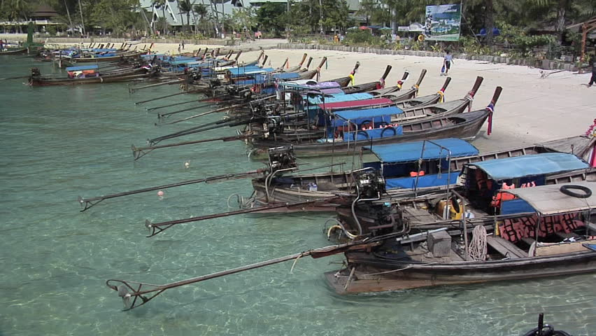 Long Tail Boats on Ao Loh Lam Beach