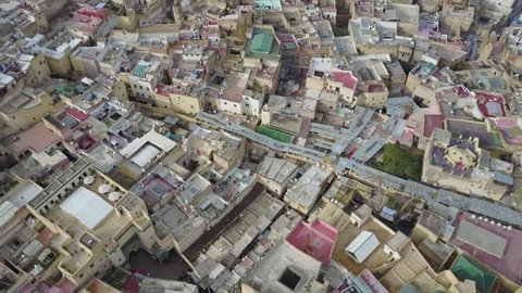 Drone aerial shoot over Casablanca Marrakesh Agadir Fez Morocco travel