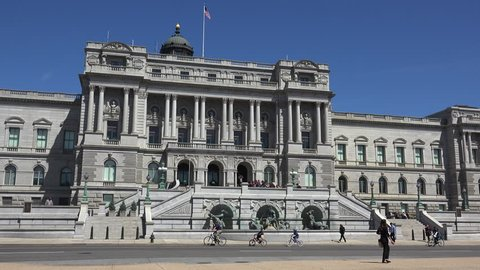 WASHINGTON, DC, USA - Circa 2017: Library of Congress Building is the oldest of the three United States Library of Congress buildings, the Thomas Jefferson Building was built between 1890 and 1904