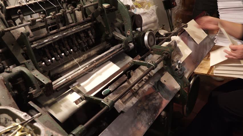 Vintage Thread Book Sewing Machine Stock Footage Video 100