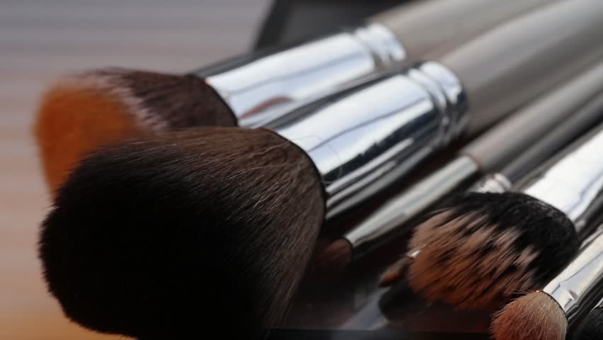 Close Up Camera Focusing on Make Up Brushes | Shutterstock HD Video #33200359
