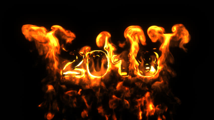 burning number the 2018. alpha channel png.