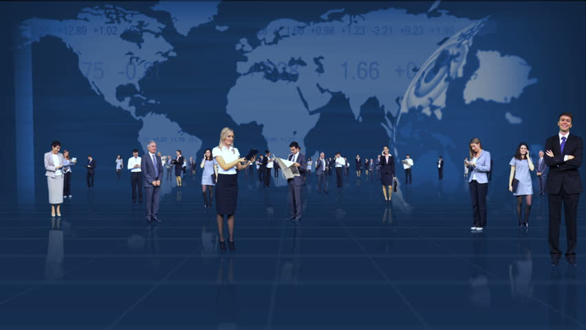 Global business flyby montage images featuring successful business people worldwide | Shutterstock HD Video #3325046
