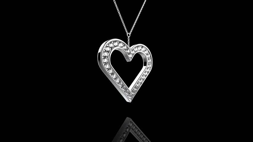 Diamond Necklace Stock Footage Video
