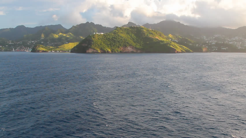 Coast of tropical island. Clare Valley, Saint Vincent and Grenadines | Shutterstock HD Video #33324589