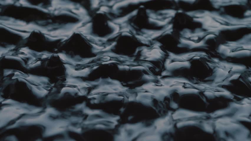 Dark Waves Subwoofer Audio Speaker Vibrations and Black Water Liquid