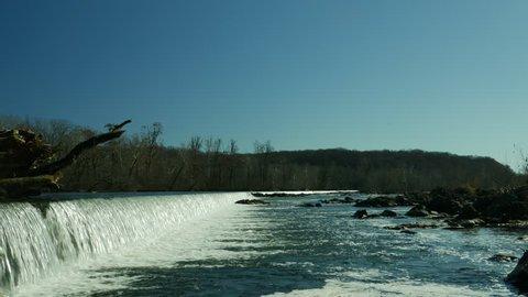 Aquaduct Dam on Potomac River near Great Falls USA