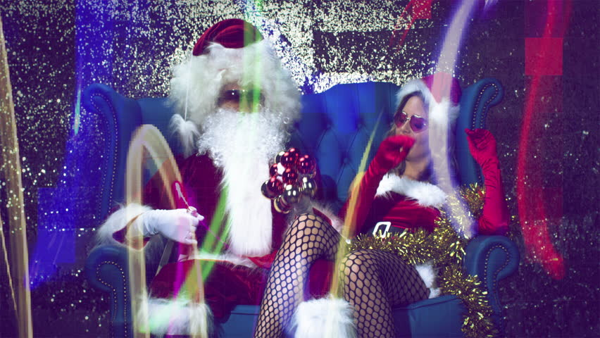 5f098661d56 Father Christmas and Sexy Mrs Stock Footage Video (100% Royalty-free)  33477229   Shutterstock