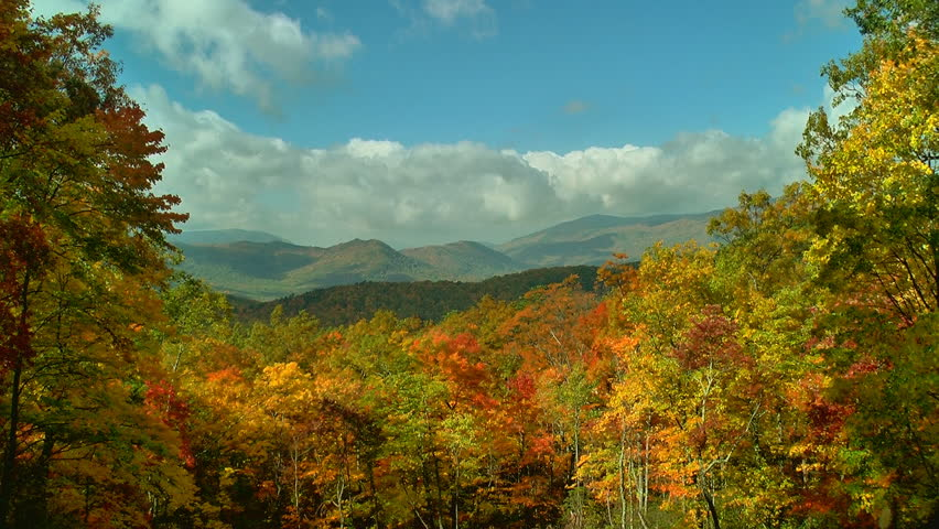 A beautiful autumn scene in the mountains of Tennessee