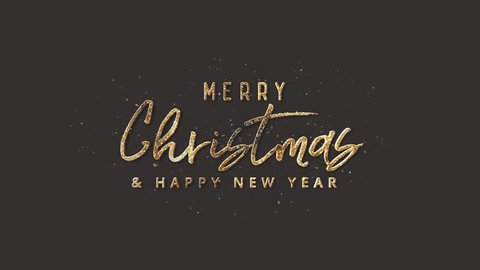 Merry Christmas And Happy New Year Text + Alpha Channel