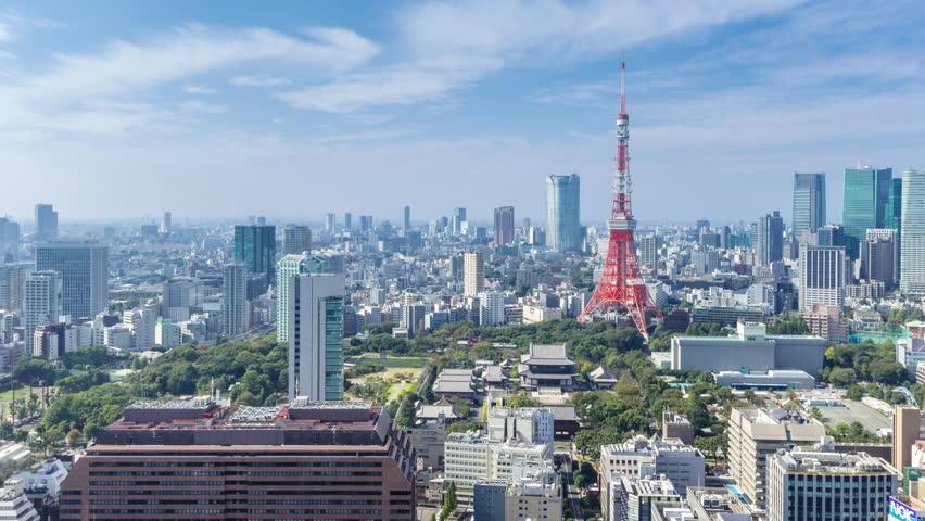 Timelapse tokyo city skyline in sunny day   Shutterstock HD Video #33484819