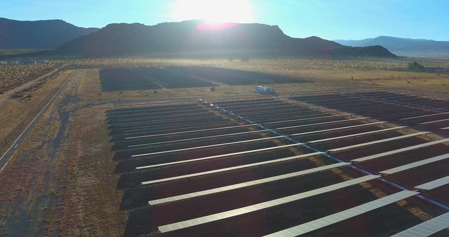 Solar Panel Array in Desert Stock Footage Video (100% Royalty-free)  33497449   Shutterstock